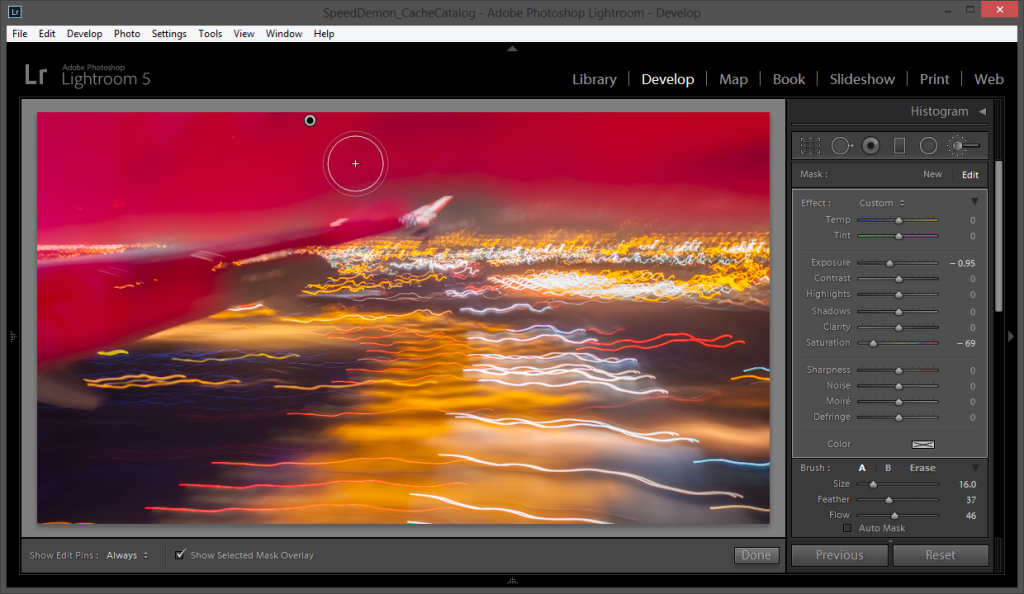 Attacking the Glare with Local Adjustments in Lightroom