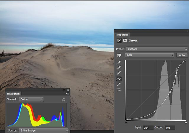 Histogram Stretch using Photoshop