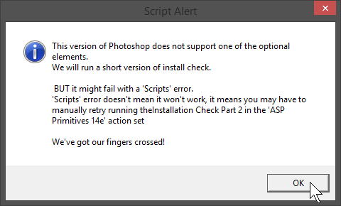 Photoshop CS2 Installation Warning