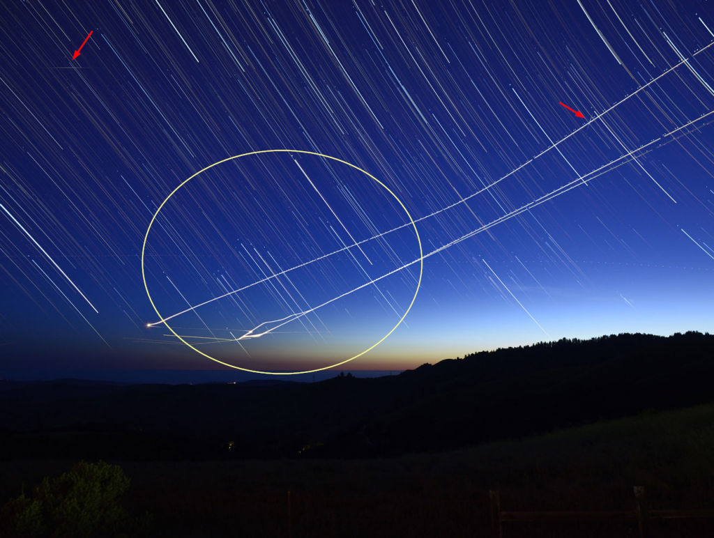 Homework assignment: Star Trails. This was created using StarStax with 150 exposures of ISO 800, f/4, 15 seconds.